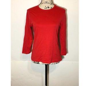 Carole Little Solid T-Shirt